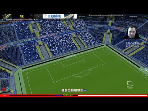 Football manager 2018 Swedish & Svenska match mot Aik