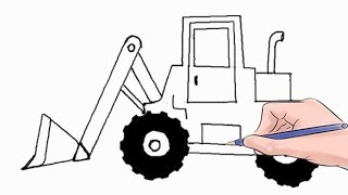 How to Draw a Loader Easy Step by Step
