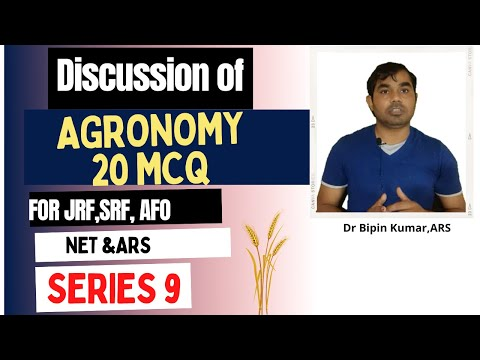 20 MCQs for General Agriculture (Agronomy) for ICAR-JRF,ARS,NET,SRF and IBPS-AFO