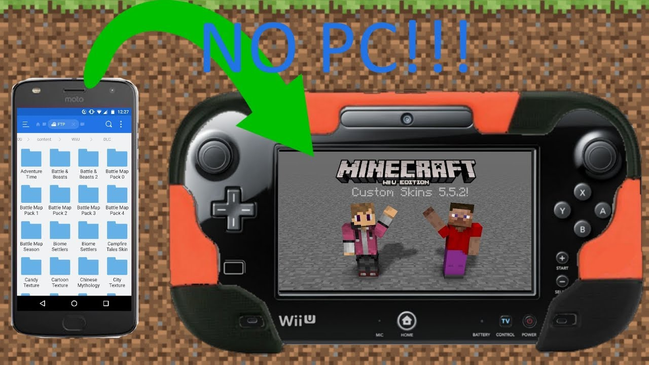 download custom skins minecraft wii u