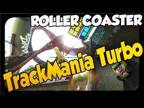 Trackmania Turbo ➤ ADVANCED ROLLER COASTER! [Let's Play Trackmania Turbo Gameplay Trackbuilder]