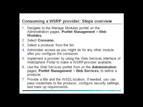 Consuming Producer WSRP Web Services for Remote Portlets in WebSphere Portal