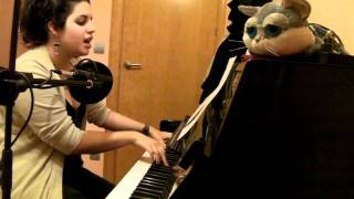 Me singing Science Fiction Double Feature (piano version)