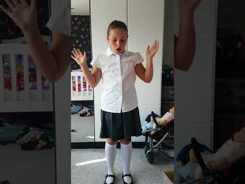 New school uniform try on