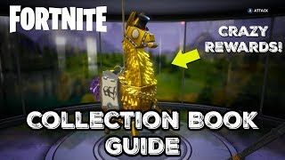 Guide de livre de la collection Fortnite - Expliqué! Récompenses folles/Loot