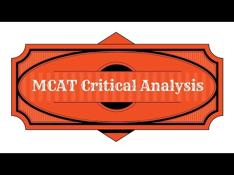 MCAT Prep Critical Analysis Study Guide