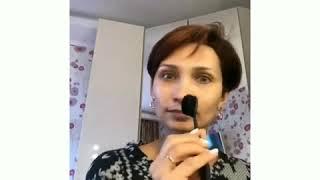 Вечерний макияж с акцентом на глаза и пудровыми губами А ещё новым тональным средством