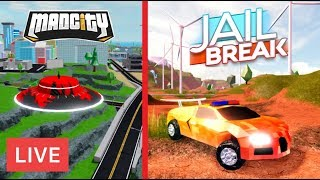 🔴 Roblox Jailbreak and Mad City Live Stream | ❓ Your Choice of game | 🔴 [Live]