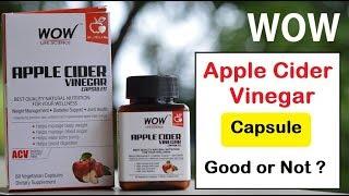 Wow apple cider vinegar capsule | हिंदी | hair, digestion, weight loss ?