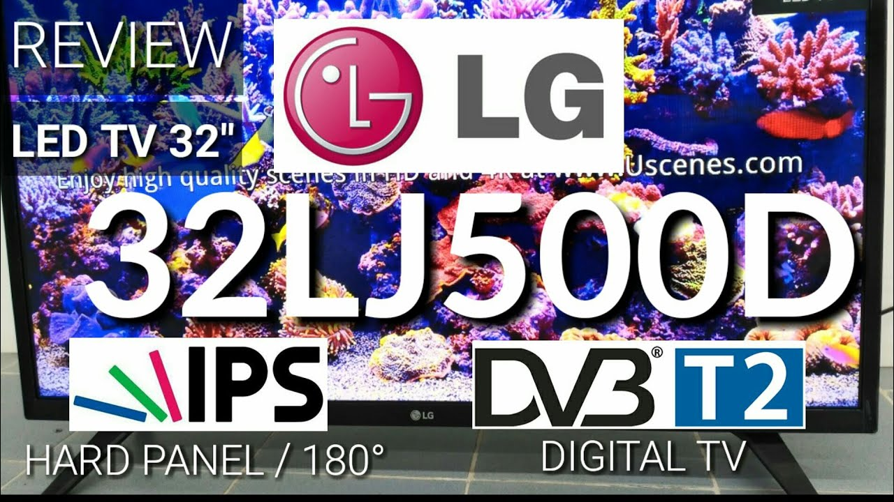 Review Led Tv Lg 32lj500d Digital Tv New 2017 Indonesia Hd Youtube