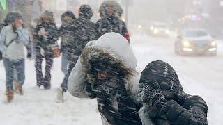 Чудовищные морозы в Москве. Рекордные за 10 лет