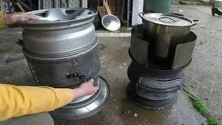 Truck rim stove upgrades