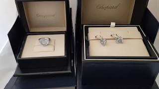 Обзор кольцо и серьги Chopard So Happy белое золото, голубые кристаллы и бриллианты!