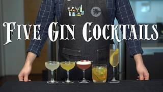 The 5 Easiest GIN Cocktails to Make at Home