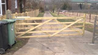 Electric Wooden Gate By Parkers Fencing, Kent