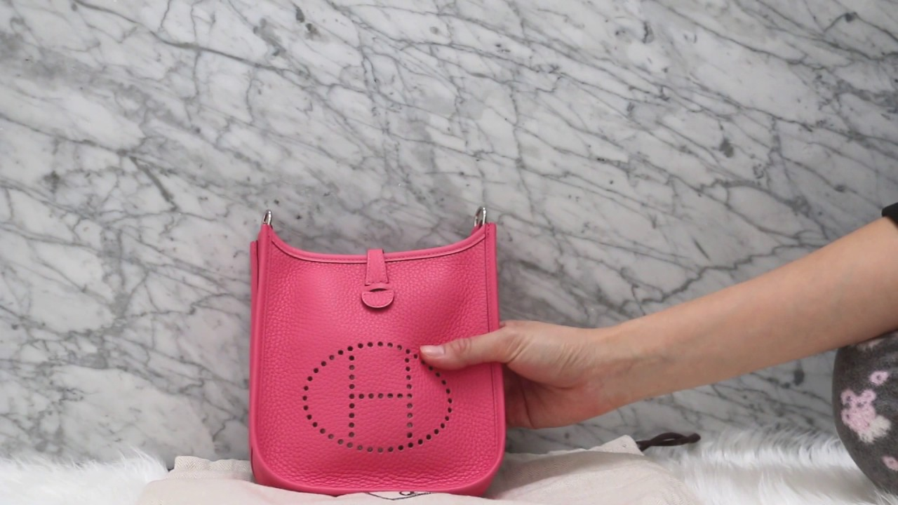 Unboxing Hermes Mini Evelyne TPM Rose Azalee Clemence Bag - YouTube 5cc41e423