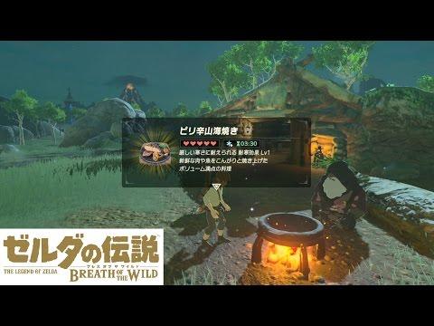 【Switch】ゼルダの伝説 ブレスオブザワイルド ピリ辛山海焼きのレシピ\u0026防寒着入手