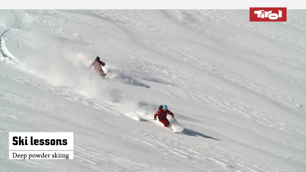 Skiing Lessons Deep Powder Skiing Online Ski Course Youtube