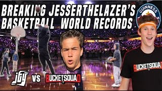 Breaking @JesserTheLazer 's Basketball World Records! [Attempting to break guinness world records]