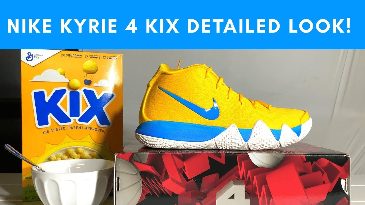 e379d181f87c Nike KYRIE 4 Cereal Pack KIX Edition Detailed Look and Review - YouTube