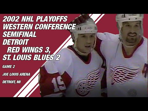 2002 Western Conference Semifinal Game 2: Detroit Red Wings 3, St. Louis Blues 2 (PARTIAL GAME)