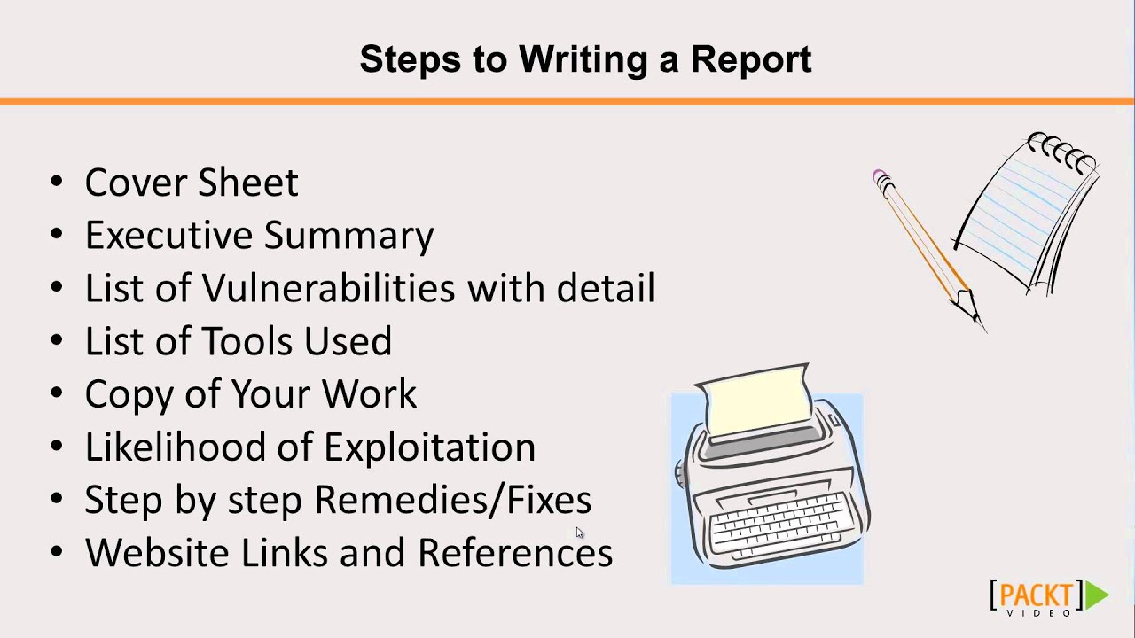 write a report Writing a recommendation report usually involves describing a situation, evaluating possible alternatives and proposing a solution to a problem whether you're writing a project, performance or risk assessment, clearly stating the facts makes it easier for others to reach a decision based on your research.