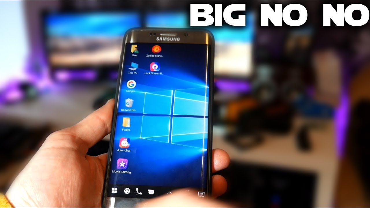 Windows 10 Desktop launchers on Android? Could be good, but nope