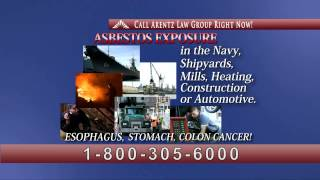 Asbestos Related Cancer TV Commercial - Arentz Law Group