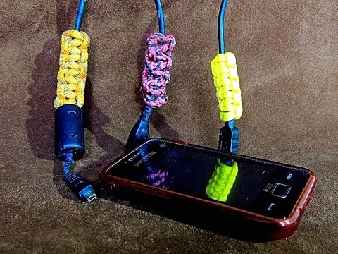 Paracord USB Cable Covering with Portuguese Sennit or Cobra Stitch (Easily Recognise your Cables)
