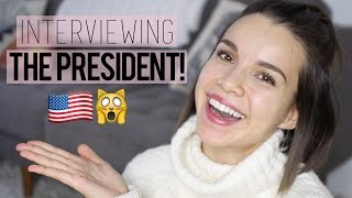 Interviewing the President! // My Experience