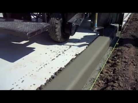 Slip Form Machine Power Curb Youtube