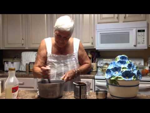 Grandma making Fudge