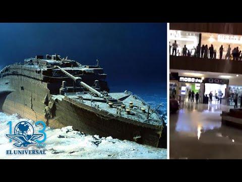 ¡Genios!: Se inunda el centro comercial y se arrancan a tocar Titanic