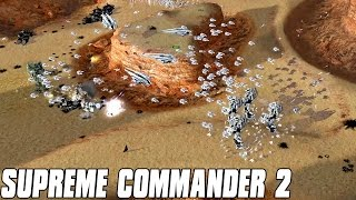Supreme Commander 2 - Cheating AI 7v1 Multiplayer Gameplay
