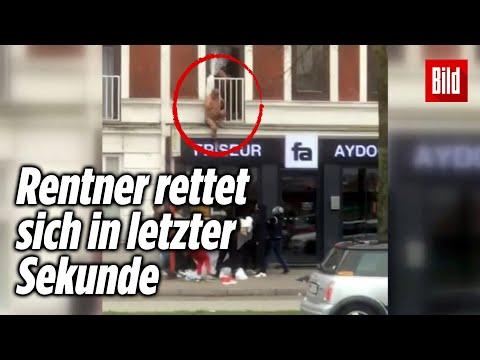 Feuerwehr-Großeinsatz: Menschen springen aus brennender Wohnung   Hamburg