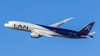 Primer Boeing 787-9 Dreamliner de LAN (CC-BGA) llegando a SCEL en vuelo de entrega desde KPAE
