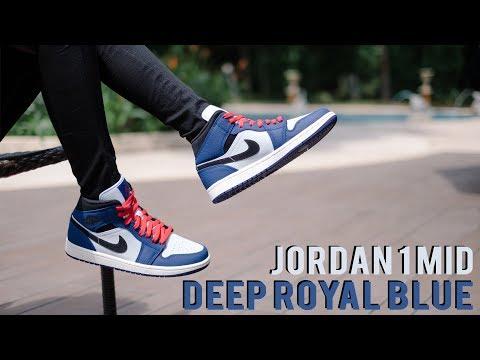 jordan 1 mid se deep royal