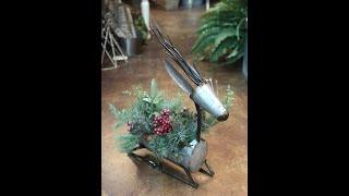 DIY Darling Galvanized Reindeer Pine & Berry Design