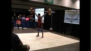 2013 American Record Makers Anthony Vong 110 snatch