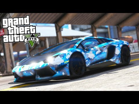 Stealing a TOP SECRET Lambo from Military Base!! (GTA 5 Mods - Evade Gameplay)