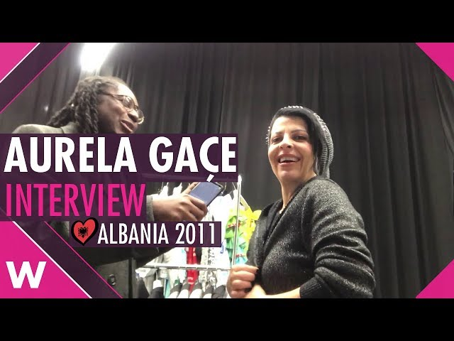 Aurela Gaçe (Albania 2011) Interview @ Tirana | wiwibloggs