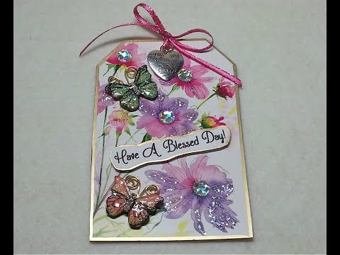 DIY~Pick Me Up Tag From D T  Note Cards! Inexpensive Kindness Token Gifts!