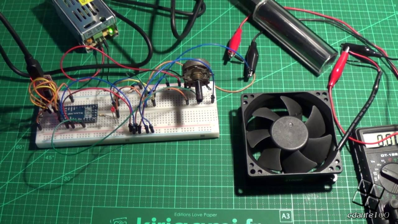 2-wire pc fan speed control with pwm arduino (12v) - YouTube