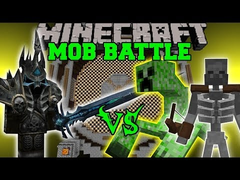 LICH KING VS MUTANT SKELETON & MUTANT CREEPER - Minecraft Mod Battles - Mutant & PsyCraft Mods