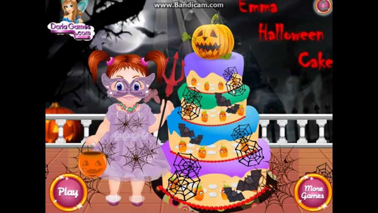 emma halloween cake game for kids new - Halloween Cake Games
