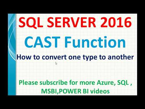 Cast Function In SQL   SQL Data Conversions