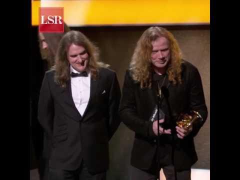 Grammy 2017: suena tema de Metallica cuando Megadeth se dirigía a recibir su premio
