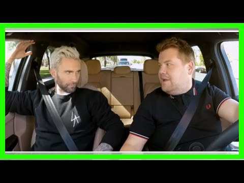 Adam Levine And James Corden Pulled Over By Police During Carpool