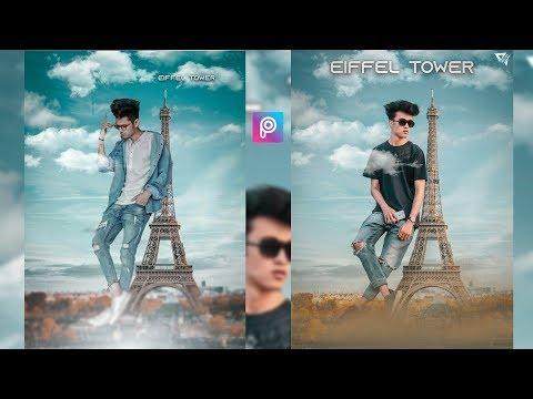PicsArt Eiffel Tower Photo Editing Tutorial in picsart Step by Step - Arunarts