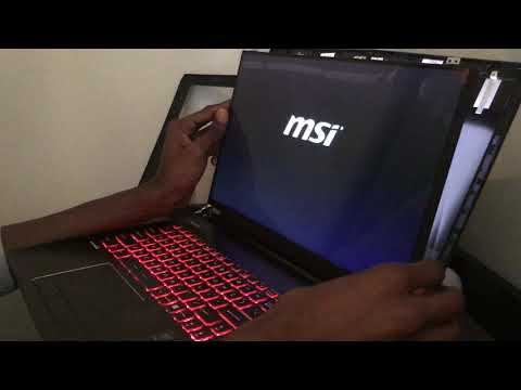 Laptop screen replacement/ How to replace laptop screen MSI GE 2QD Apache Pro